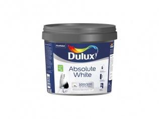 Dulux Absolute White Farba emulsyjna do ścian i sufitów Dulux Absolute White 9 l