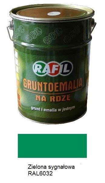 Farba Gruntoemalia Na Rdze Rafil Zielony Sygnalowy Ral6032 Polmat 5 L